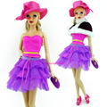 New Model  Authentic Princess Doll Informal Outfit  Gown+ Shoe+ Bag+Hat  For  Barbie Doll  Child Toys Scorching Promote  Woman Present