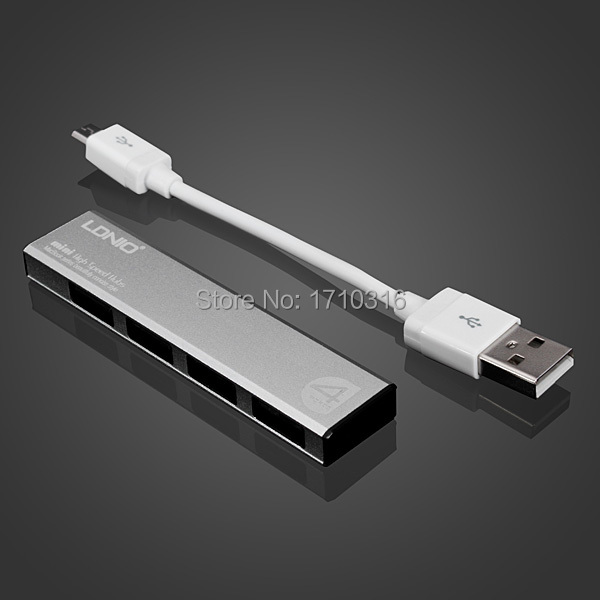 Brand NEW High-Quality LDNIO DL-H1 Aluminum Alloy High Speed 4 Ports USB 2.0 Hub Practical and beautiful(China (Mainland))