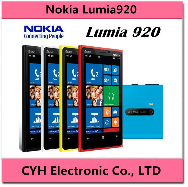 "Lumia 920 Original Unlocked Nokia Lumia 920 Refurbished Mobile Phone 4.5 ""inch Dual core 32GB ROM 1GB RAM NFC GPS 3G 4G(China (Mainland))"