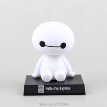 Bobblehead Big Hero 6 Baymax Robot Classical PVC Anime Action Figure Toys Car Decoration Accessories