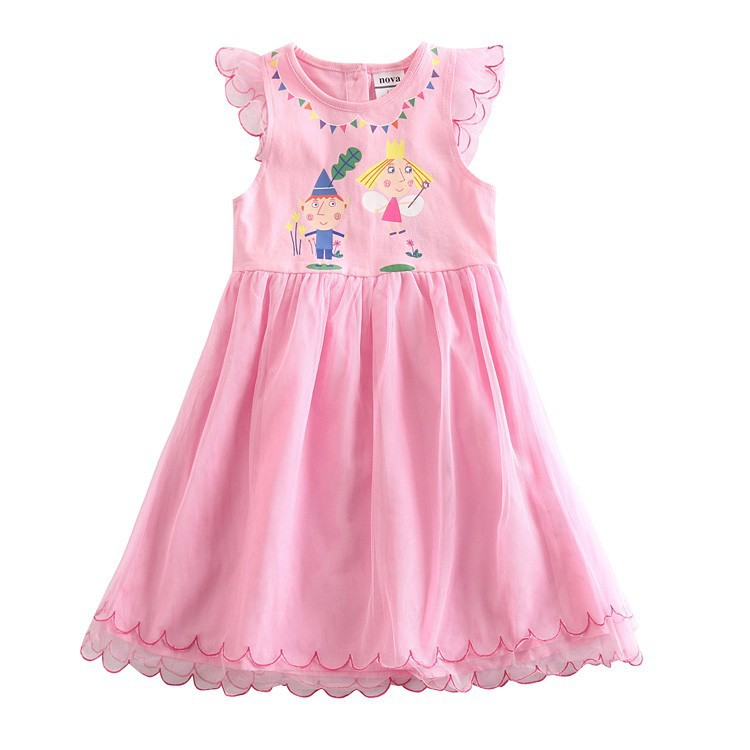 AliExpress.com Product - Retail ben and holly little kingdom dress for baby girls children dress printed ben and holly little kingdom party dress H4938