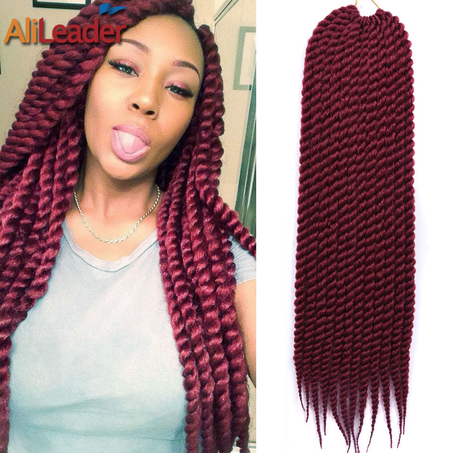 Crochet Braids Pack : Burgundy Braiding Hair 12/22 12Roots/Pack Freetress Crochet Braid...