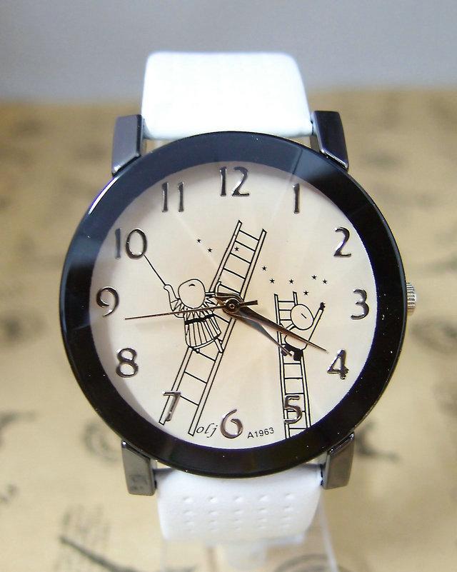 Гаджет  Holiday Sale New Arrival Leather Cartoon Watch Children Women Ladies Fashion Dress Quartz Wrist Watch For Gift OLJ-9 None Часы