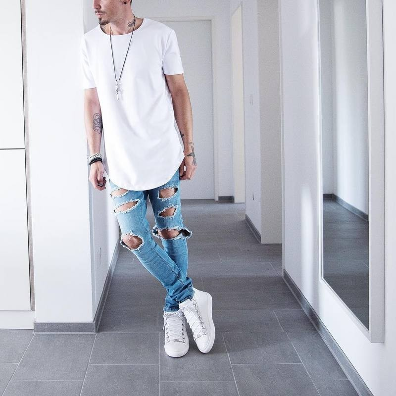 Curved Hem Hip Hop T-shirt Men Urban Kpop Extended T shirt Plain Longline Mens Tee Shirts Male Clothes Justin Bieber Kanye West(China (Mainland))