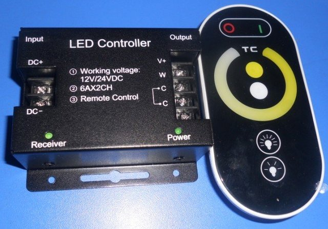 led touch dimmer,DC12-24V input,6A*2channel output