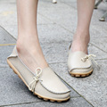 Genuine Leather Shoes Moccasins Woman Ladies Flats Shoes Spring 2016 Casual Comfort Driving Mother Loafers Size
