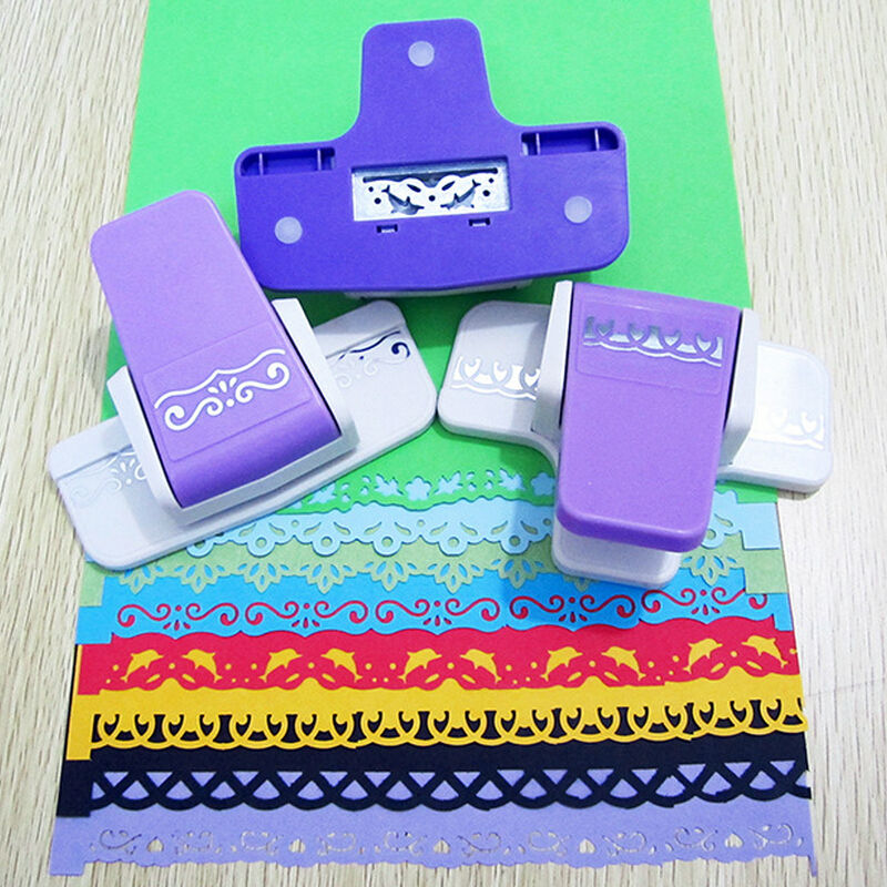 New fancy border punch s flower design embossing punch for Paper cutter for crafts