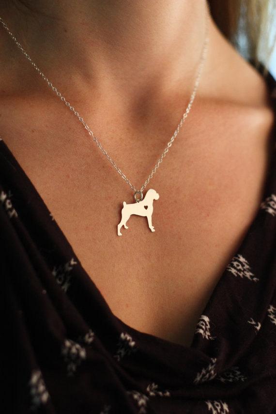 30pcs Dainty Dog Necklace Pet Love Memorial Cute Delicate Boxer Necklaces & Pendants Gold Choker Necklace Women Pendant Charms