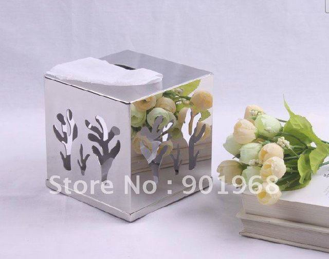 hotel room home office stainless steel tissue box-napkin box-paper box-tissue holder-napkin holder
