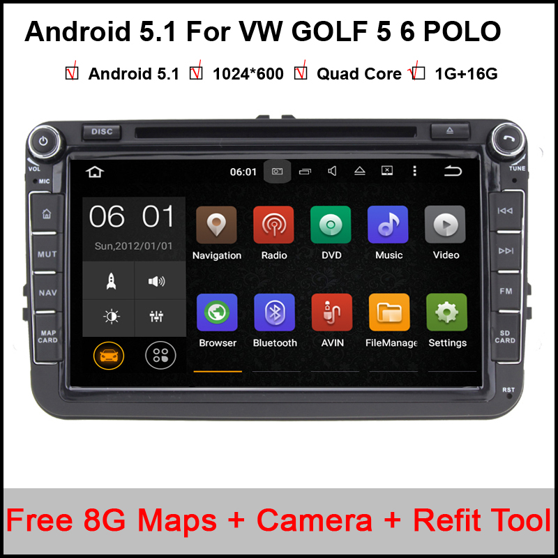 1024*600 android 5.11 8 inch Capacitive Car DVD GPS VW GOLF 5 6 POLO JETTA TOURAN EOS PASSAT CC TIGUAN SHARAN SCIROCCO Caddy(China (Mainland))
