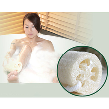 New Hot Natural Bathroom Accessories Bath Body Loofah Towel Wipe Pot Scrub Sponge Wash Clean Travel Portable(China (Mainland))