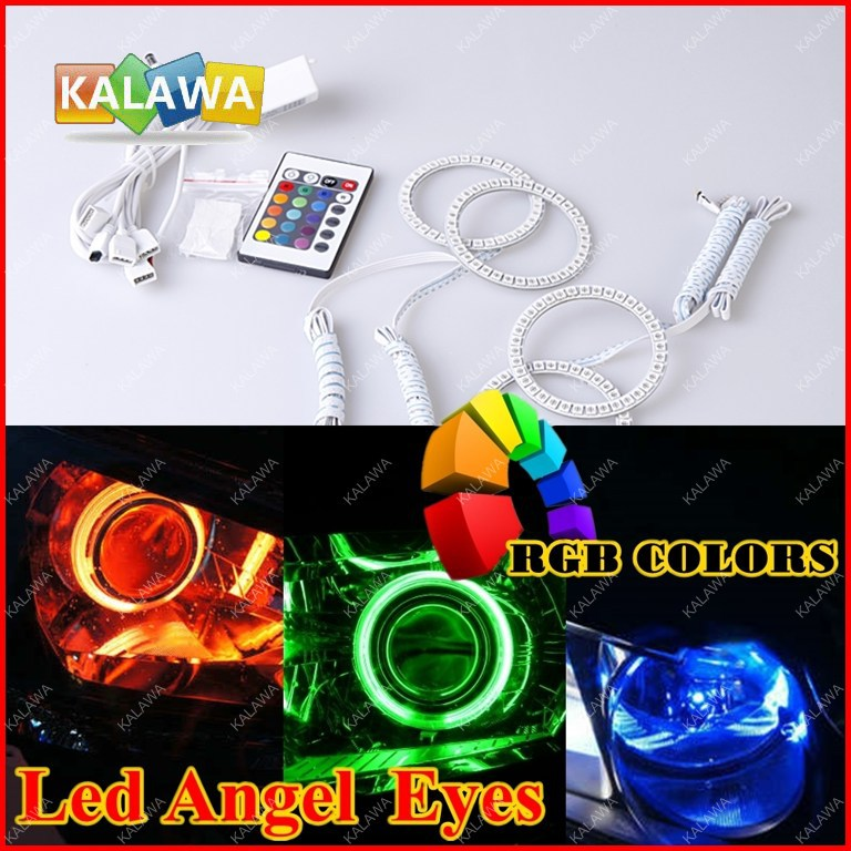 RGB Led Angel Eyes Rings Kit 5050 SMD Headlight ring case for Nis.san IN.FINI.TI FX35/45 72mm+94mm Freeshipping GGG(China (Mainland))