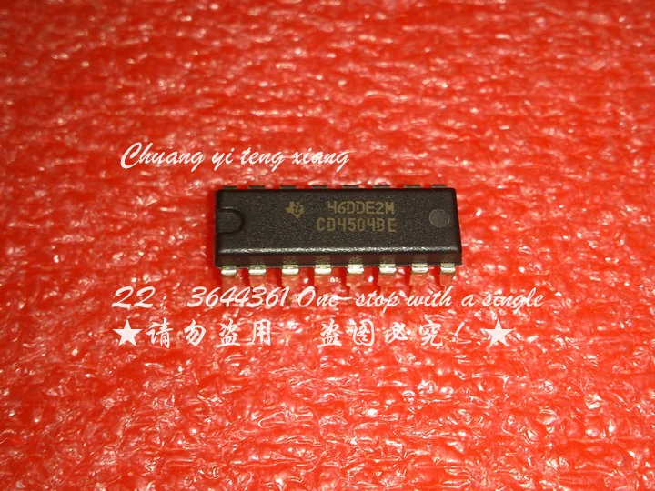 CD4504BE DIP16 line voltage level converter chip - chip 15pcs/lot(China (Mainland))