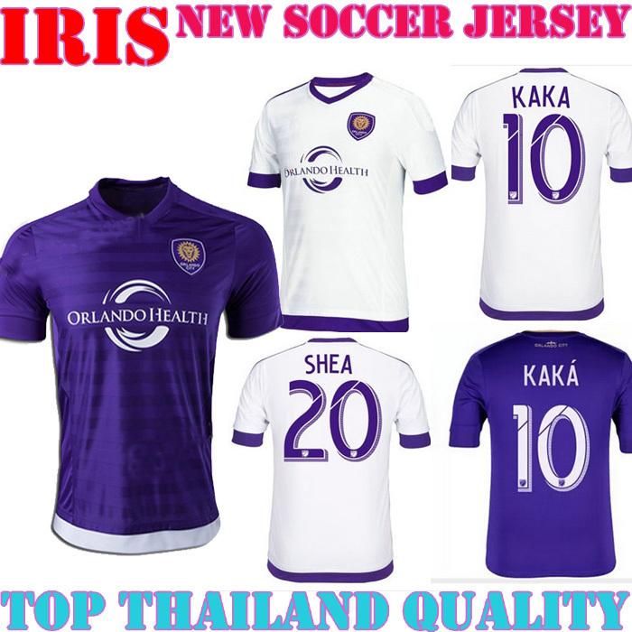 new ORLANDO CITY JERSEY KAKA home purple AWAY WHITE 2016 ORLANDO CITY KAKA SHEA COLLIN FOOTBALL shirt can cusotm name number(China (Mainland))