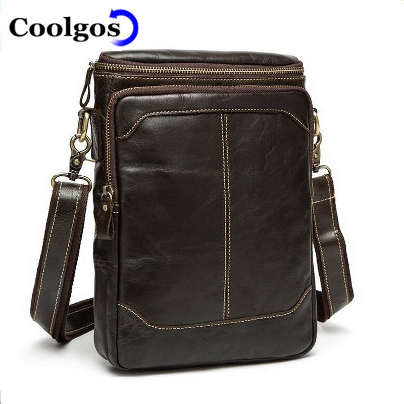 2016 FASHION Men Bag Men Messenger Bags Crossbody Shoulder Men'S Travel Bag 100% Genuine Leather Bags Male Sport(China (Mainland))