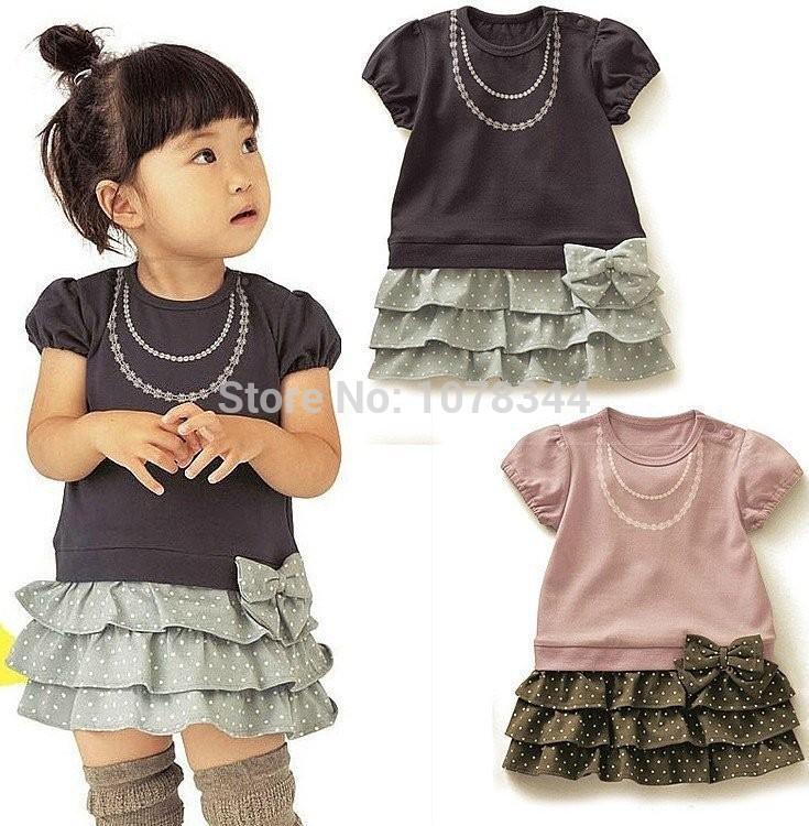 For 18M - 5 Baby Girl Tutu Dress Fashion Bow Princess Dress For Children Summer Kids Cake Dress Vestidos For Girls Clothes 2015(China (Mainland))