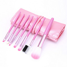7 PCS Professional Wood Pink Makeup Brush Brushes Kit Cosmetic Make Up Set Kit (China (Mainland))