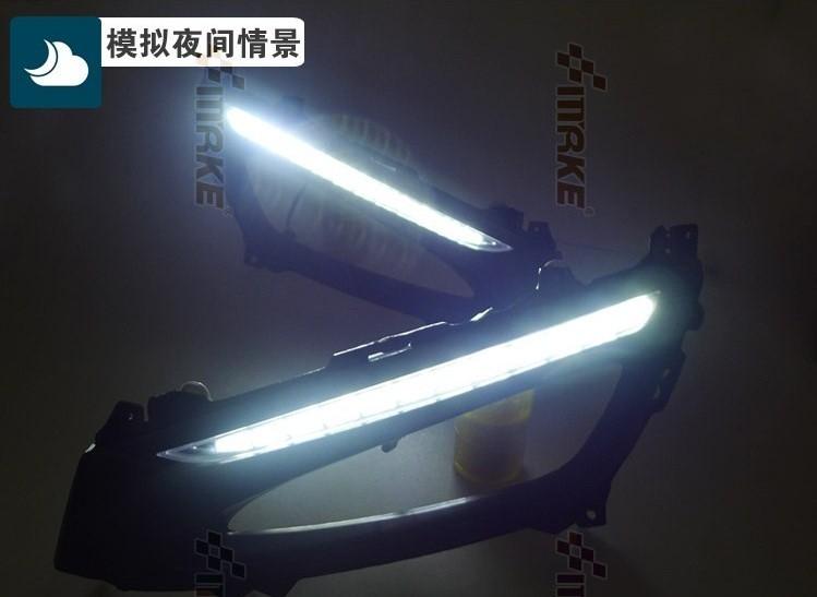 Free shipping !12V 6000k LED DRL Daytime running light case for KIA K5 2011 fog lamp frame Fog light Car styling