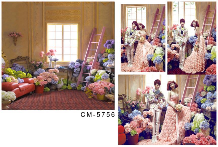 wedding background photography 600cmX300cm vinyl backdrop House of flowers sofa  CM-5756<br><br>Aliexpress