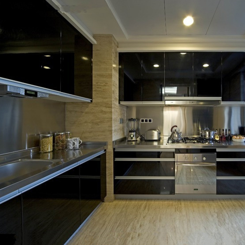Black White Kitchen Wallpaper: Modern Kitchen Cupboard DIY Black Wallpaper Roll Self