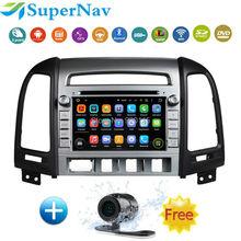 2din Car radio stereo for hyundai santafe 2006-2011 with Android  touch screen DVD GPS Navigation 3G Wifi Radio Free map camera(China (Mainland))