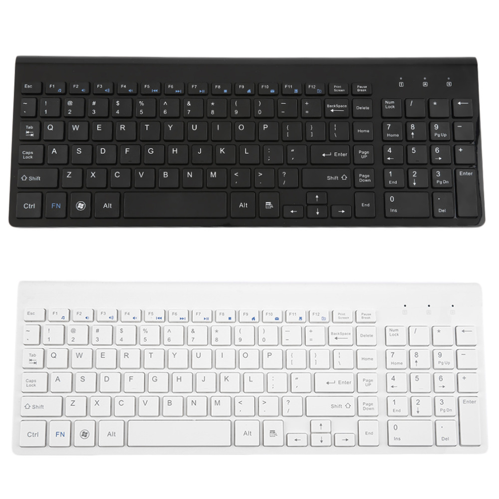 1 Pc Ultra Slim 2.4G Wireless bluetooth Keyboard for Apple Tablet Laptop Black/White New(China (Mainland))