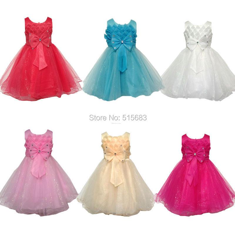 6 colors flower girl dresses for weddings girls pageant for Baby dresses for weddings