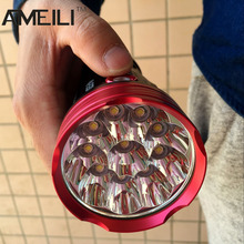 20000 lumens light King 10T6 LED flashlamp 10 x CREE XM-L T6 LED Flashlight Torch Lamp Light For Hunting Camping(China (Mainland))
