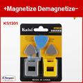 Exclusive set configuration screwdriver plus special magnetic Magnetize Demagnetize metal increased case KS 1301