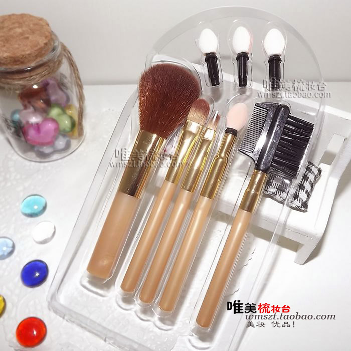 68 new arrival 5 make-up makeup brush set 3 replacement brush head(China (Mainland))