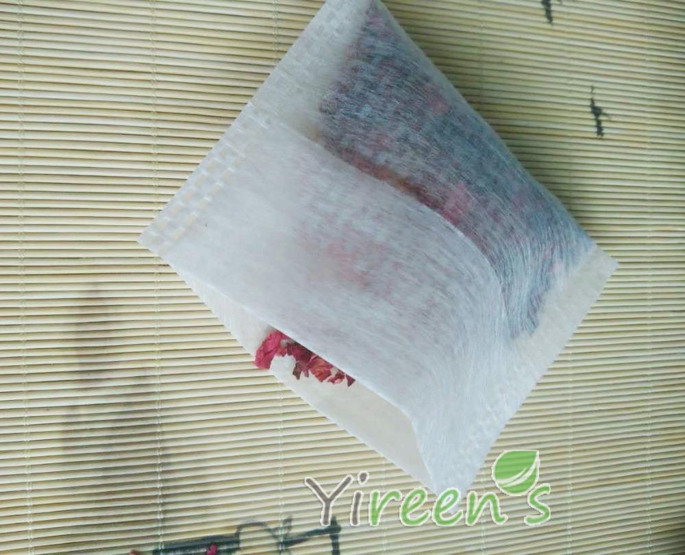 Free shipping! 2016 New PLA Biodegraded Tea Filters 100pcs 75 X 80mm Fold Close Heat Seal Tea bags, Medicine Powder Filter Bags(China (Mainland))