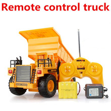 Oversized toy car,Wireless remote control dump truck tipper, 6 Channels Mine car, RC Electric cars model toys,free shipping(China (Mainland))