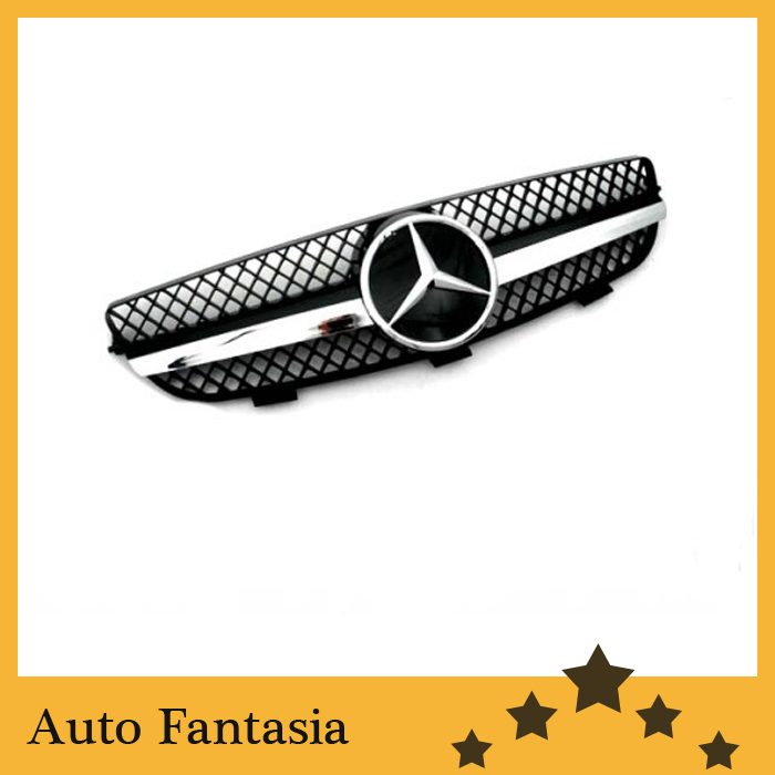 Black Style Front Center Grille - for Mercedes Benz CLK Class W209(China (Mainland))