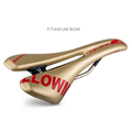 Men Road Bike Bicycle Hollow Cushion Front Seat Mat Titanium Bow Cycling Male Breathable Leather Saddle