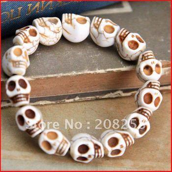 Free Shipping New Arrival skull bb bracelet/skull Bracelet Jewelry 12pcs/lot