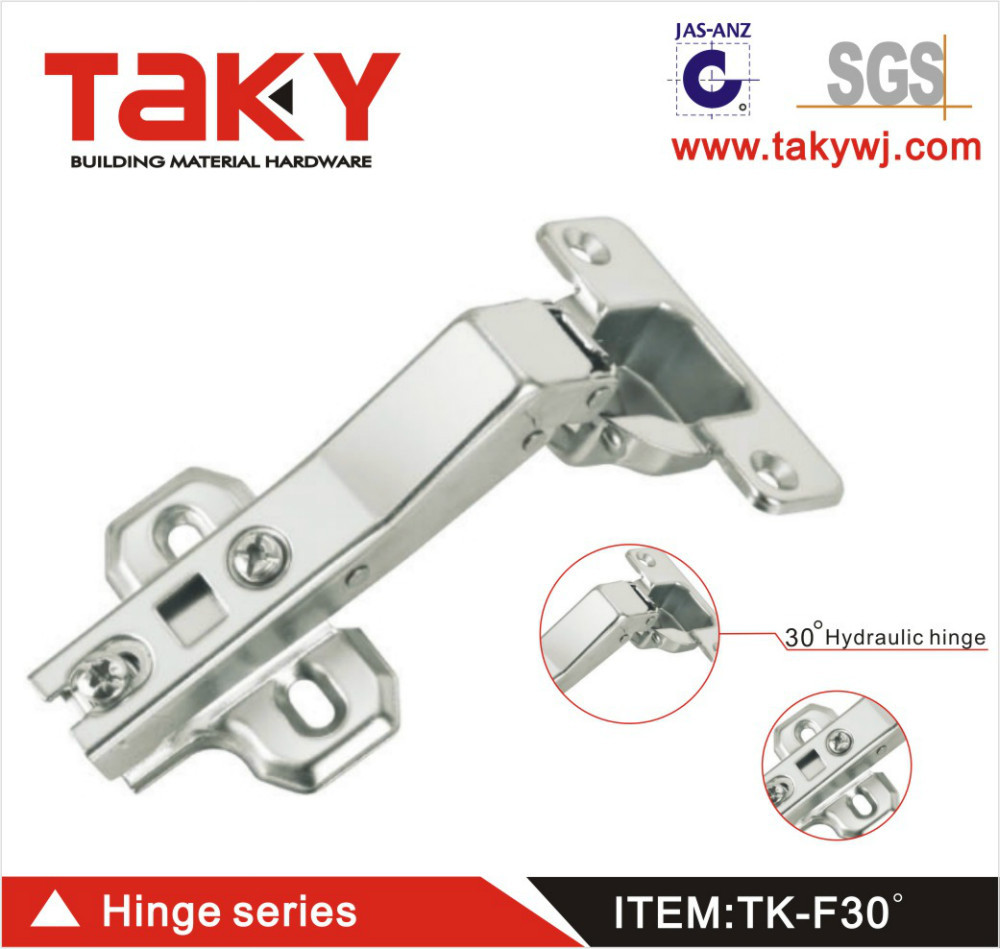 TK-F30 degree hydraulic concealed hinge for furniture cabinet(China (Mainland))