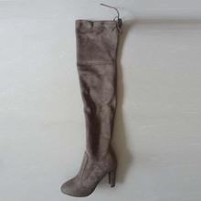 Botas Sexy botas sobre la rodilla mujeres del Ante del Faux Delgado botas de nieve de las mujeres de moda de invierno de alta del muslo botas zapatos de mujer # Y1159855F(China (Mainland))
