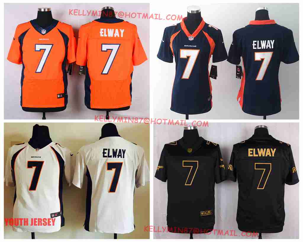 100% Stitiched,Denver Broncos John Elway for womens youth kids mens.throwback(China (Mainland))