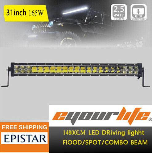 Eyourlife 31/32/33 inch led light 180w work light for12V 24V Trucks Boat SUV Off Road ATV 4x4 120w(China (Mainland))