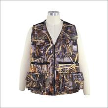 Breathable camo fishing vest, outdoor hunting vest for men, men's waterproof fishing jacket