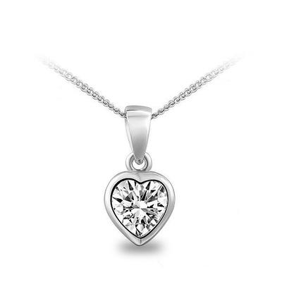 European fashion simple elegance Heart Zirconium Stone Lock ossicular chain necklace female jewelery manufacturers G189(China (Mainland))