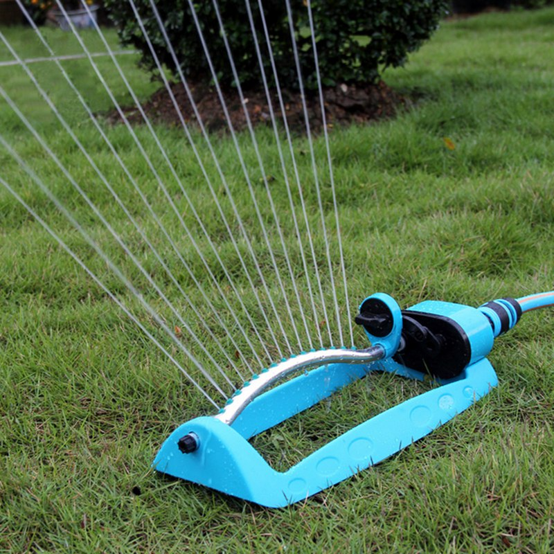 New Garden Sprinklers Blue Automatic Oscillating Watering Irrigation For Greenhouse Yard Supplies Water Hoses Tools(China (Mainland))