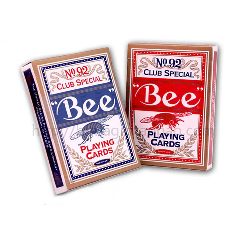 Bee poker playing cards