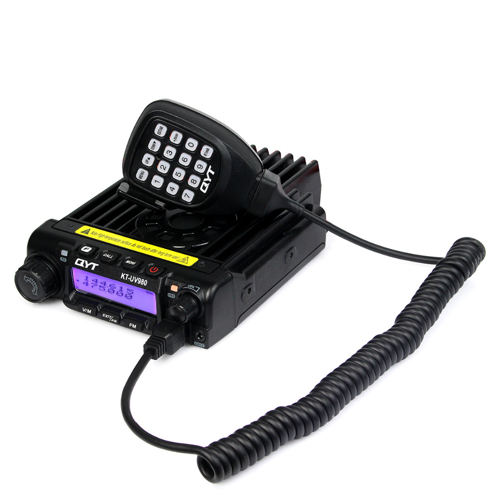 QYT KT-UV980 Mobile Radio 65W 200CH Multiple Function VHF/UHF Dual Band Dual LCD Display FM Vehicle Transceiver Radio A7231(China (Mainland))