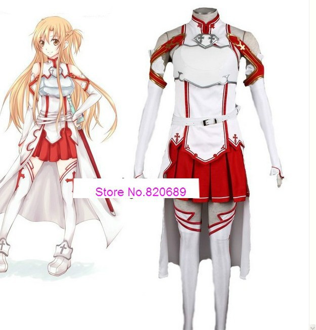 Sword Art Online Asuna Cosplay Costume full size - Suncosplay Store store