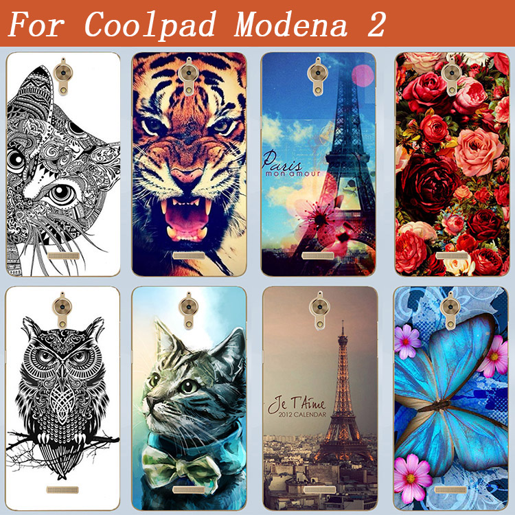 Popular Patterns Case For Coolpad Modena 2 Soft TPU Cover Beautiful Rose Flowers Style Painting Case FOR Coolpad Modena 2 Cover(China (Mainland))