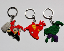 Wholesale 100PCS Avengers Hulk Key chains Action figure Keyring Keychain toy Gift Travel Accessories(China (Mainland))