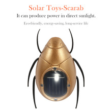 Hot Sale Magic Mini Solar Powered Scarab Insect Salar Toy Kids Toys Solar Toys for Children  Solar Scarab(China (Mainland))