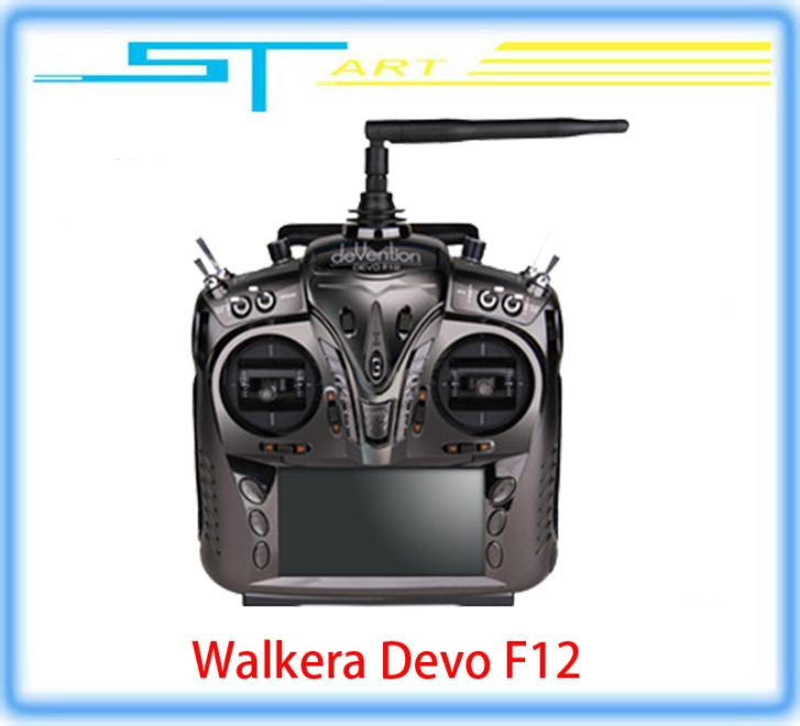 2pcs Free shipping Walkera F12 12ch Transmitter with Aluminum Case for FPV RC Quadcopter Drone X350 pro X800 VS Devo classic toy(China (Mainland))