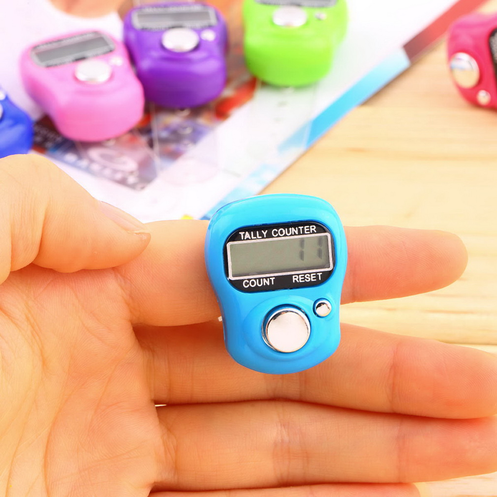 1pcs Stitch Marker And Row Finger Counter LCD Electronic Digital Tally Counter Hot Worldwide(China (Mainland))